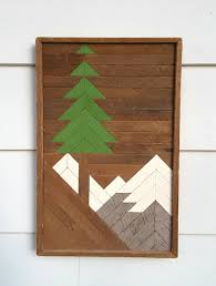 wooden pine tree wall wood wall wooden pine tree and mountain gifts