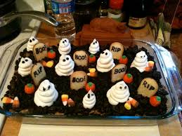 Halloween Dirt Cake Recipe Gummy Worms by Sewing Barefoot Graveyard