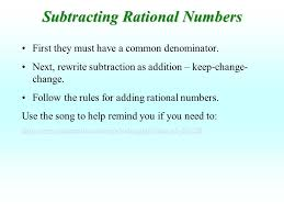 adding and subtracting rational numbers worksheets adding and subtracting rational numbers ppt