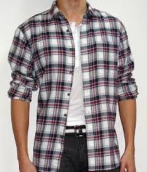 american eagle black red white plaid long sleeve shirt men u0027s