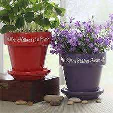 personalized flower pot personalized s flower pots