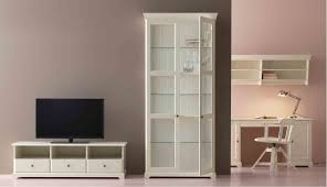 Ikea White Bookcase With Glass Doors by Liatorp Ikea