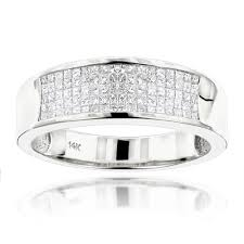 Wedding Rings Princess Cut by 14k Gold Princess Cut Diamond Mens Wedding Ring 1 50ct