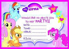 Mlp Birthday Card My Little Pony Cards And Stationery Ebay