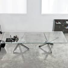large glass coffee table aikido large glass dining table klarity glass furniture