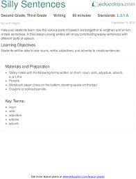 silly sentences lesson plan education com