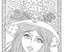 cute witch halloween coloring fun coloring instant
