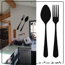 deco murale pour cuisine cuisine sticker cuisine fourchette et cuillã re pour une dã