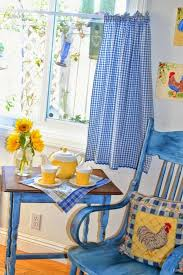 Blue Kitchen Curtains by Blue And Yellow Kitchen Curtains Fpudining