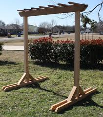 Swing Pergola by Freestanding 4x4 Swing Stand