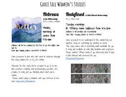 fall women u0027s bible studies grace church