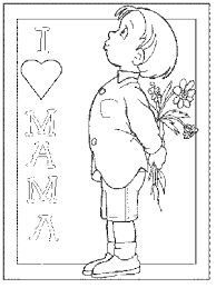coloring pages happy boy mothers day coloring pages