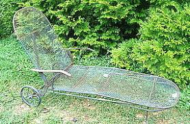 Wrought Iron Chaise Lounge Wrought Iron Chaise Lounge By Woodard 1950 Item 811125