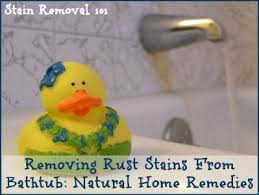 Get Rid Of Bathtub Stains Best 25 Remove Rust Stains Ideas On Pinterest How To Clean Rust