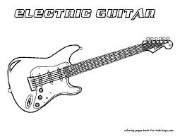 guitar coloring page grand guitar coloring guitars free electric