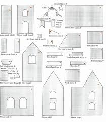 christmas gingerbread house pattern a gingerbread house paper