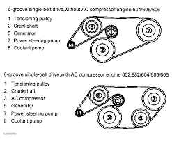 1995 mercedes benz c280 serpentine belt routing and timing belt