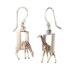 giraffe earrings giraffes in squares earrings by kristin lora silver earrings