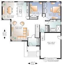 plan de cuisine moderne avec ilot central w3283 modèle contemporain plan de maison moderne grand garage