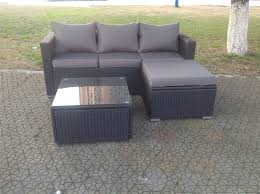 Sofa Set Table 5 Seater Brown Rattan Garden Furniture Sofa Set Table And Chairs