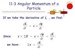 chapter 11 angular momentum general rotation 11 2 vector cross