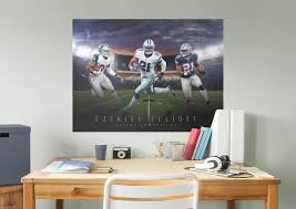 ezekiel elliott montage mural wall decal shop fathead for ezekiel elliott montage fathead wall mural