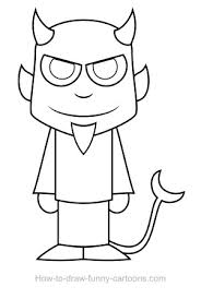 devil drawing sketching vector