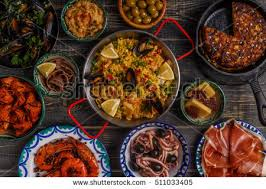 Indian Food Olives From Spain Typical Tapas Concept Concept Include Stock Photo