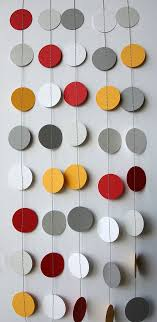 hanging ceiling decorations paper garland birthday decorations circle garland photo