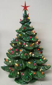 vintage ceramic christmas tree vintage ceramic lighted christmas tree 24 inch ceramic light