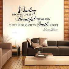 Beautiful Wall Stickers by Beautiful Wall Decal Keep Smiling Life Is Beautiful Quote Vinyl