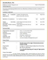 Examples Of Teachers Resumes by Resume Format Fresher Teachers Sample