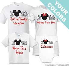 new year shirts 2016 or 2017 new year family disney shirts after tees