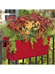 balcony garden viva self watering balcony railing planter