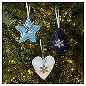 tree decorations tinsel baubles tesco