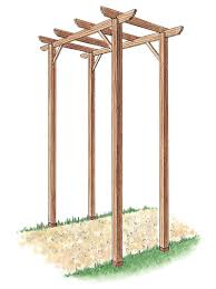 wedding arbor kits how to build a freestanding wooden pergola kit how tos diy