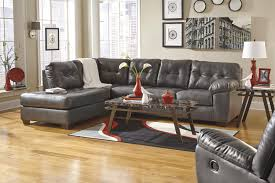 How To Decorate Living Room With Brown Leather Furniture Signature Design By Ashley Alliston Durablend Gray Contemporary