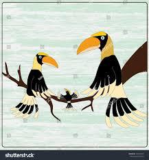 cartoon hornbill family stock vector 192664460 shutterstock