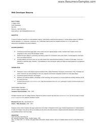 junior web developer resume resume sample