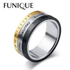 steel titanium rings images 3in1 titanium stainless steel rotatable week calendar date ring jpg