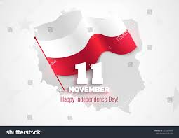 11 november poland independence day greeting stock vector