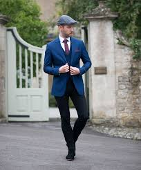 blue suit with black skinny jeans your average guy