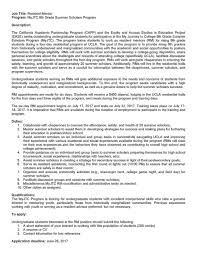 Resident Assistant Resume Resume Ucla Resume For Your Job Application