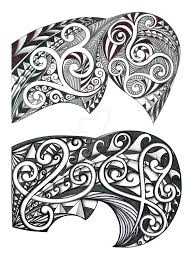 tribal designs for shoulder pec by thehoundofulster on deviantart