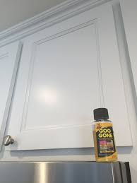 how to remove sticky residue kitchen cabinets remove kitchen cabinet grease like a miracle goo