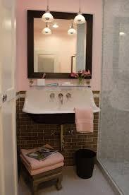 pink and gray bathroom contemporary bathroom breathing room