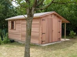 Gloriette De Jardin En Bois Garage Bois Anjou 3 00mx5 00m Avec Bûcher Cerisier Abris De
