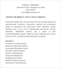 project manager resume template u2013 6 free samples examples