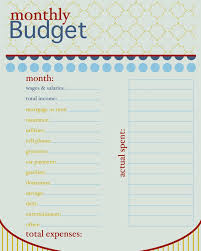 Best Home Budget Spreadsheet 11 Monthly Budget Forms Monthly Budget Forms Regarding Budget