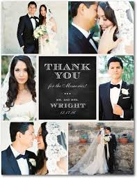 wedding thank you cards a photo collage of the best moments of your wedding day create a